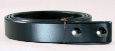 Black Bridle Leather Belt without a buckle