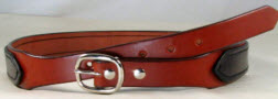 2 ply tapered leather gun belt