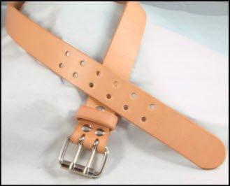 Double Prong Natural Leather Belt