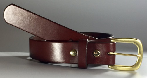 British Brown Bridle Leather Belt