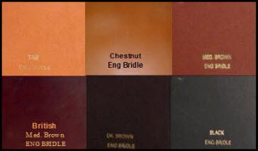 Bridle Leather Colors