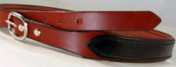 Black and Medium Brown Bridle Leather Gun Belt