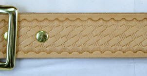 Basket Weave on Natural Harness Leather Belt