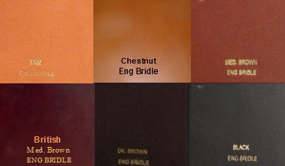 English Bridle Belt Colors