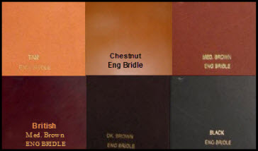 Bridle Leather Colors