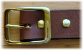 Medium Brown Bridle Leather Work Belt