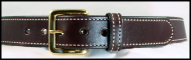 Dark Brown Bridle Tan Stitching