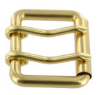 Solid Brass Double Prong Buckle