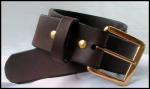 Leather gun belt made in the U.S.A