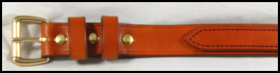 Light brown harness leather gun belt
