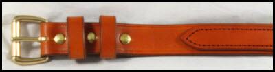 Tan Double Layer Gun Belt