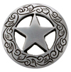 Texas Star Antique Silver Concho
