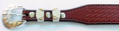 Tapered Medium Brown Harness Leather Belt