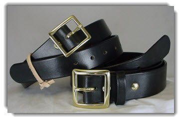 Black Bridle Leather Belts with Garrison Buckle