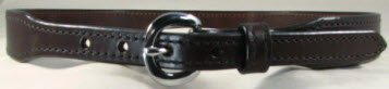 Black Tapered Harness Leather Belt