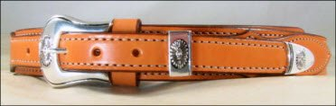 Tan Bridle Leather Ranger Belt