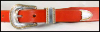 Tan Tapered Leather Belt